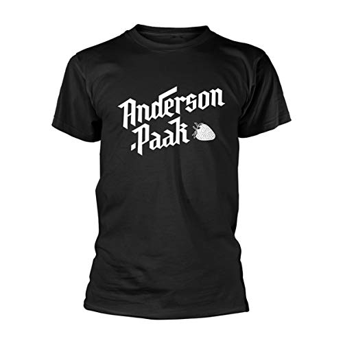 Anderson .Paak T Shirt Strawberry Band Logo Official Mens Black Size L