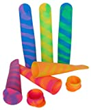 Silicone Popsicle Molds & Snack Holder. Ice Pop Maker Forget About Leaks & Messy Bags! They Fit in Lunchboxes, Gym Bags. As a Snack Holder Take Your Snacks Everywhere You Go & As an Ice Mold Refresh Your Kids with a Yummy Popsicle. Fun (Set of 6) Popasnac