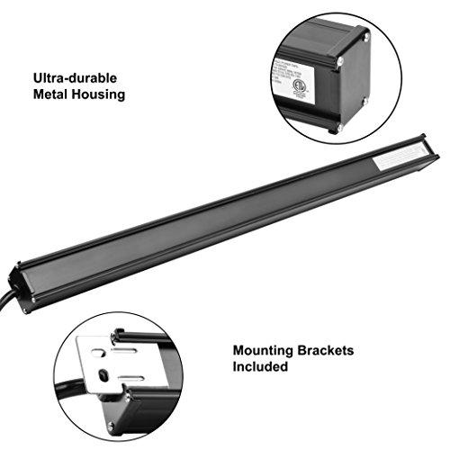 Bestten 24-Outlet Heavy Duty Metal Power Strip with 15-Foot Ultra Long Power Cord, ETL Certified, Black by BESTTEN (Image #2)