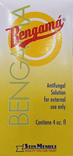 Bengama Formula Antifungal Solution 4oz fl Bottle Alcohol Sein Mendez