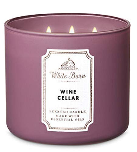 White Barn Bath and Body Works 3 Wick Scented Candle Wine Cellar 14.5 Ounce
