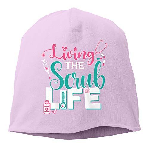 (YU Women's Living The Scrub Life Funny Skiing Beanies Skull Hat)