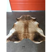 Vanhides Brindle Bear Print Cowhide Rug Size 6x5 (180cmX150cm)