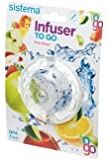 Sistema To Go Collection Fruit Infuser to Flavor Water, Assorted Colors