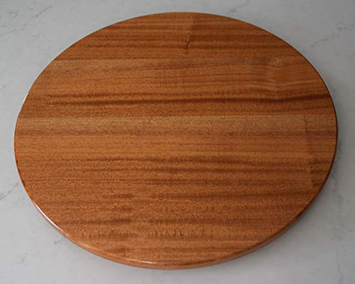 - 22 inch wood Mahogany Lazy Susan with a Natural finish