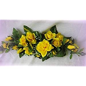 Inna-Wholesale Art Crafts New Rose Swag Yellow Table Centerpiece Silk Decorating Flowers Arch Gazebo Decor DIY - Perfect for Any Wedding, Special Occasion or Home Office D?cor 18