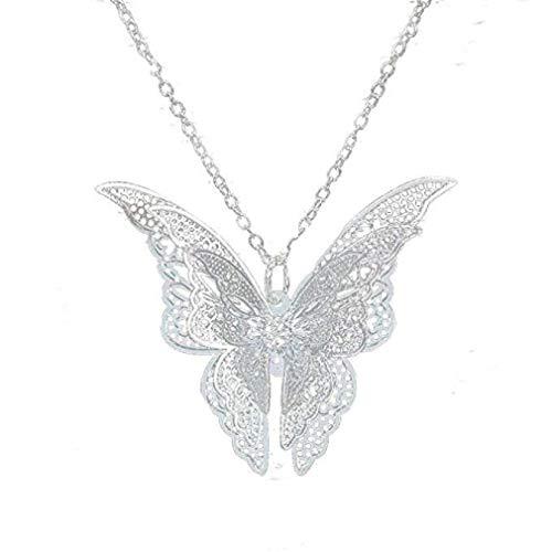 Noopvan Women Necklace Lovely Butterfly Pendant Chain Jewelry (Silver) from Noopvan