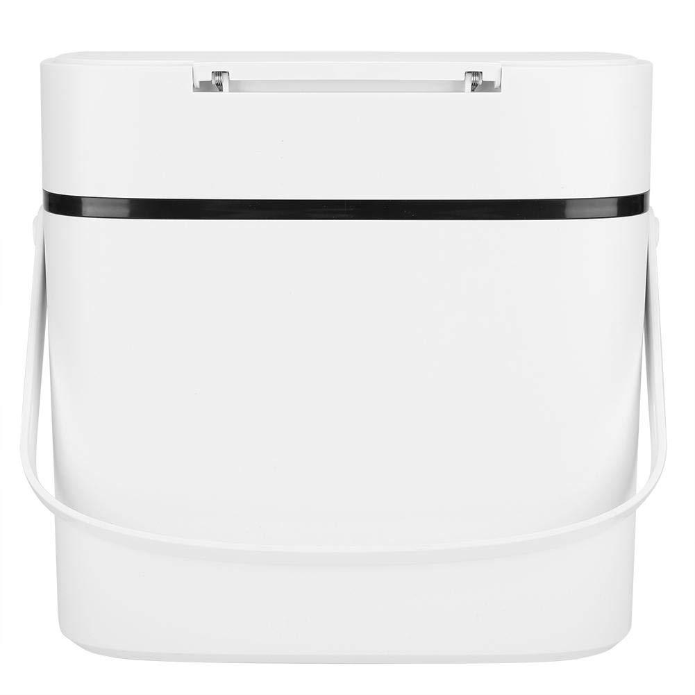 Tipo de prensado Cubo de basura Cubo de basura para cocina Oficina Cubo de basura Empuje la cocina con tapa Ba/ño Dormitorio Bedroom 15L)