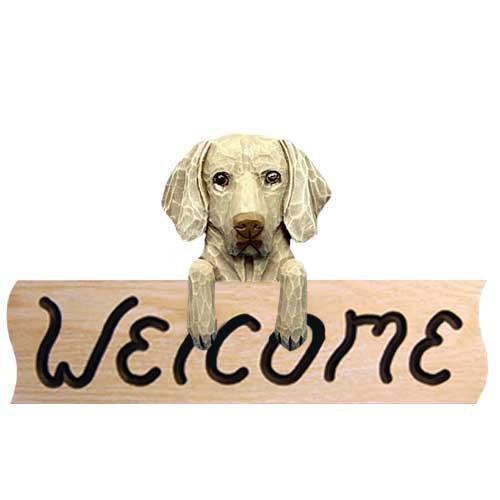 Weimaraner Welcome Sign OAK