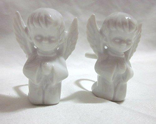 Set of Vintage Ceramic Angel Candle Huggers - Angel Hugger