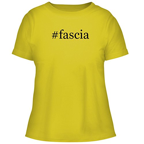 BH Cool Designs #Fascia - Cute Women's Graphic Tee, Yellow, Small