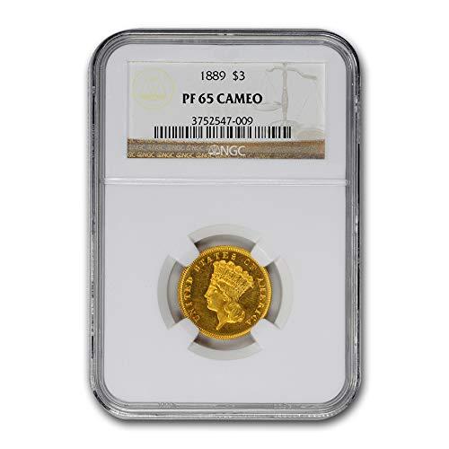 1889 $3 Gold Princess PF-65 Cameo NGC $3 PR-65 NGC
