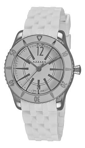 Azzaro Men's AZ2200.12AA.01A Coastline White Dial and Rubber Strap Watch (Azzaro Men Quartz)