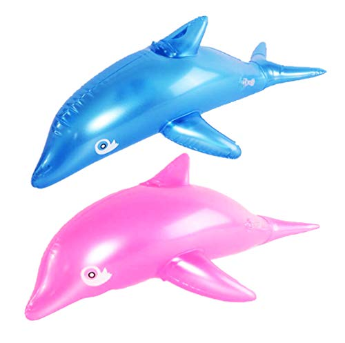 Super Bump Inflatable Dolphin Pool Float Toy for Fun Kid and Adult Pool Party