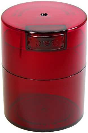 Tightvac - 1/2 oz to 3 ounce Airtight Multi-Use Vacuum Seal Portable Storage Container for Dry Goods, Food, and Herbs - Red Tint