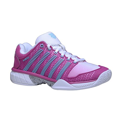 K-Swiss Women`s Hypercourt Express Tennis Shoes White and Very Berry-(8887582574