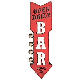 Bar Open Daily Reproduction Vintage Advertising Si...