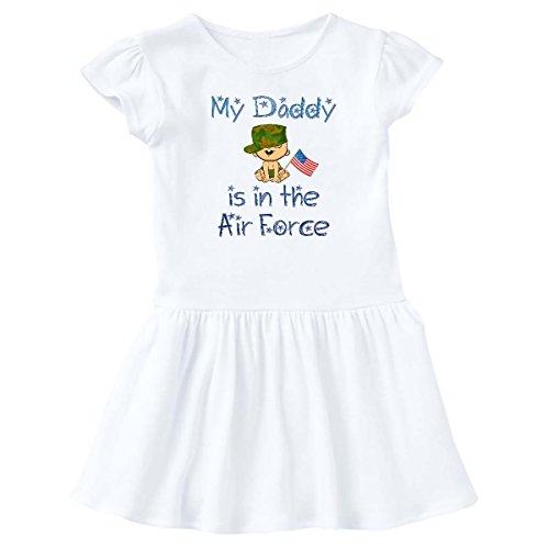 - inktastic - Daddy in The Air Force Infant Dress 12 Months White 4435
