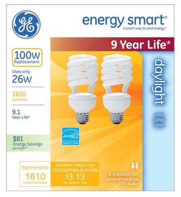 GE Watt Light Flood 2 Pack