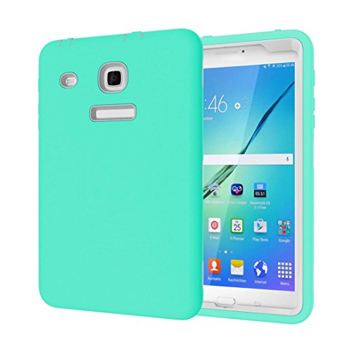 Feite Kids Shockproof Impact Defender Case Cover For Samsung Galaxy Tab E 8.0 T377 (Mint Green)