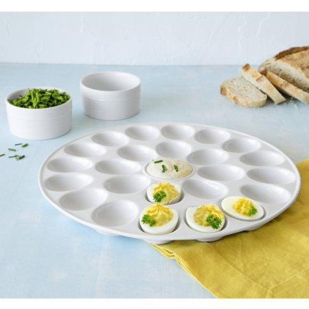 Better Homes and Gardens Porcelain Egg Platter with Round Ramekins by Better Homes & Gardens (Image #2)