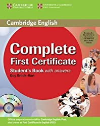 COMPLETE FIRST CERTIFICATE STUDENT'S BOOK: WITHOUT ANSWERS [WITH CDROM] BY Brook-Hart, Guy(Author)04-2008( Paperback )