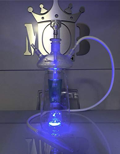 MOB Jelly Hookah – Double Hose Shisha for Smoking Flavored Tobacco – Unique Glow-in-The-Dark Design for More Fun