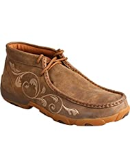 Twisted X Womens Embroidered Lace-up Driving Mocs - Wdm0041