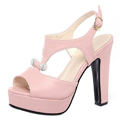 4e0f8a7c0 TAOFFEN Mujer Peep Toe Sandalias De Fiesta Moda Plataforma Tacon Alto  Slingback Zapatos De Hebilla 641