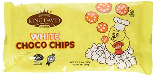 King David Vegan Lactose-Free Non-dairy Kosher White Chocolate Flavored Chips 8.8-ounce Bags (Pack of 4)