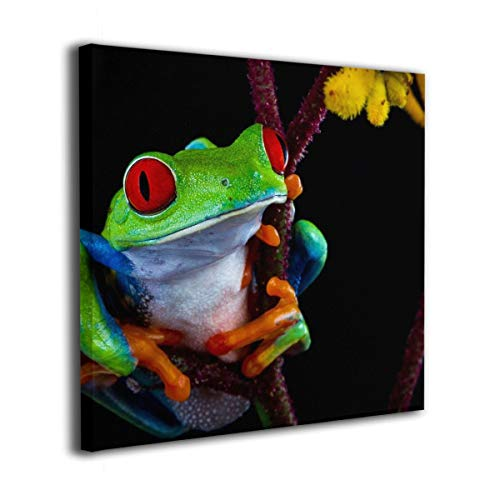 Jaylut Square Frameless Painting Print Artwork Dark Frog Tree Drawing Picture Wall Decor for Home Office 16