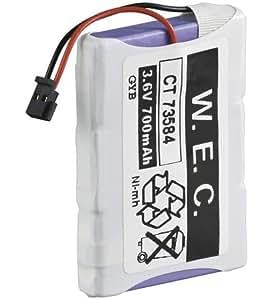 Goobay - Batería de repuesto para teléfono inalámbrico Siemens (700mAh, 3,6V)