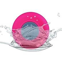 RioRand Pink Water Resistant Bluetooth Shower Speaker Speaker