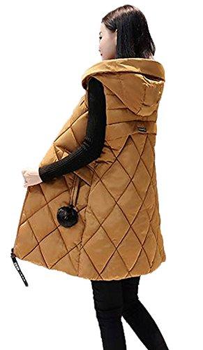 それに応じて亜熱帯責めるレディース ダウンベスト ロングベスト ロング ダウンジャケット ノースリーブ 厚手 アウター フード付き ダウンコート 細身 軽量 暖かい 中綿 着痩せ おしゃれ 通勤 ファッション