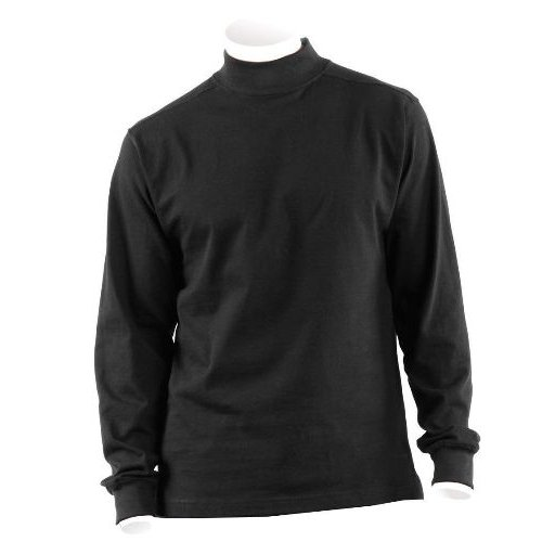 Black Thermal Underwear Shirt w/ Mock Turtleneck, 3XL, Made in USA