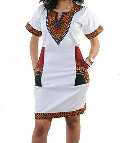 UPC 602938889421, shekiss Women Sexy African Print V-neck Dashiki Bodycon Stretch Club Dress