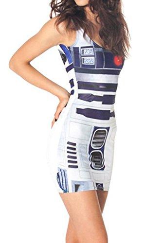 Digitale stampata serbatoio Vestitino aderente donna