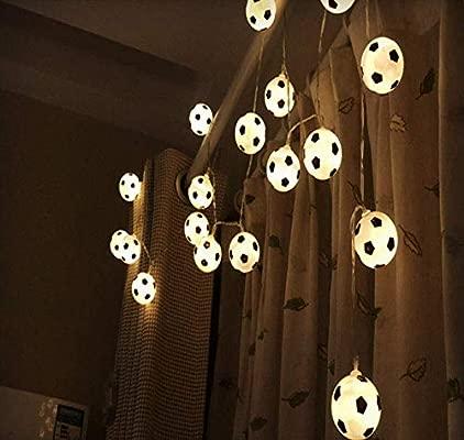 CUUYQ LED Cadena de Luces, Cadena de luz fútbol Adornos ...