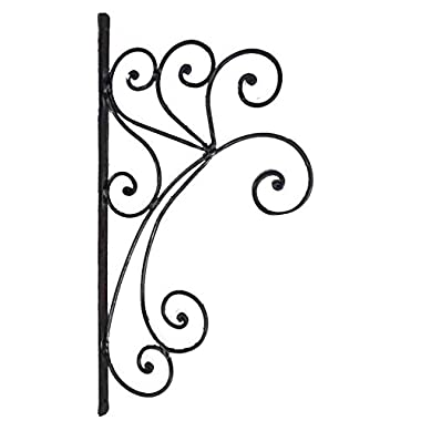 Egypt gift shops Rustic Wrought Iron Wall Mount Scrolled Ornate Bracket Garden Plants Pot Holder Hook Basket Hanger
