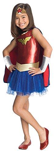 Rubies Costume Co Wonder Woman Tutu Costume,Red/Blue,Toddler -