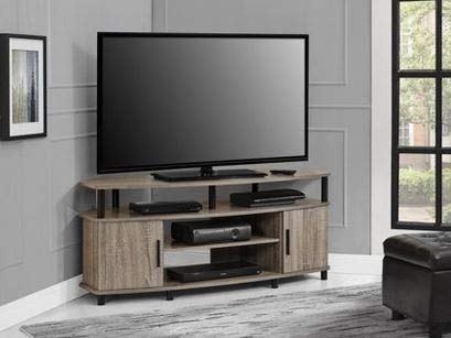 Amazoncom Tv Stand For 50 Inch Tv Sonoma Oak Wood With Two Open