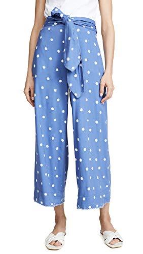 Bella Dahl Women's Belted Crop Pants, Breezy Blue, X-Small