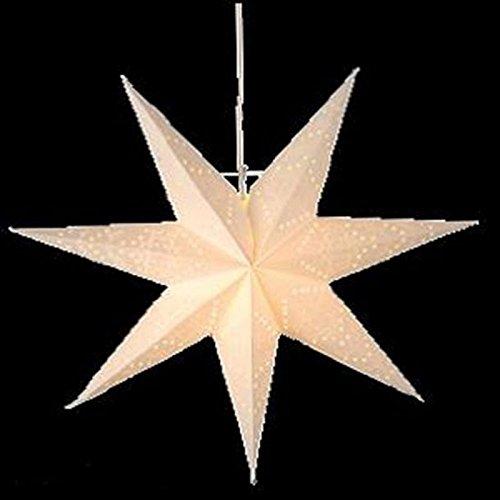 Stern aus Papier mit 4er LED-Lampen zum Hängen Ø 45 cm