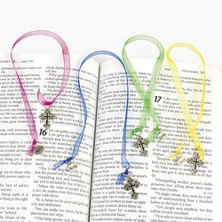 Ribbon Bookmark (Ornate Cross Ribbon Bookmarks (1 Dozen))