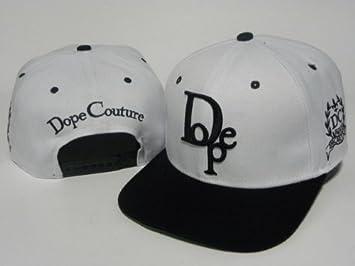 DOPE - Gorra con cierre snapback, color blanco y negro: Amazon.es ...