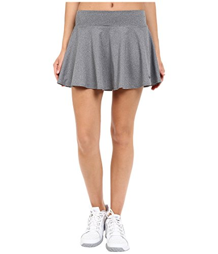 (Nike Women's Court Baseline Tennis Skirt, Heather/Dark Grey, XL)