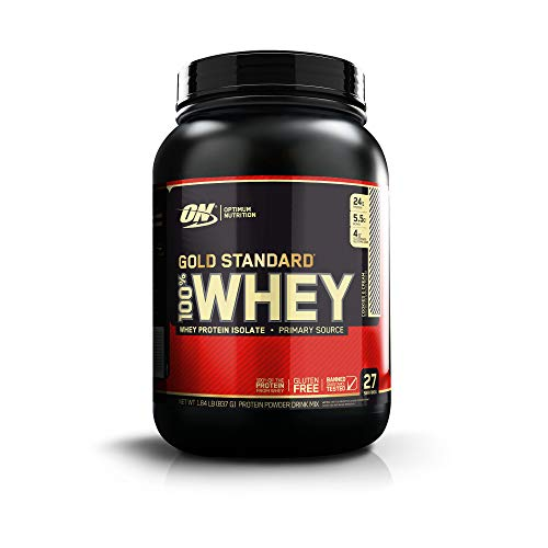 OPTIMUM NUTRITION GOLD STANDARD 100% Whey Protein Powder, Cookies and Cream, 1.85 Pound (Package May Vary) ()