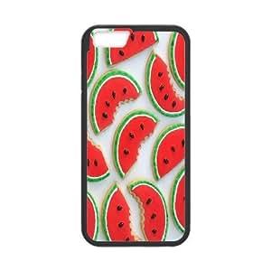 IPhone 6 Plus Case Latest Food Watermelon Shaped Cookies, - [Black] Kweet