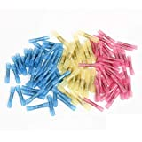 Merssavo 100pcs Heat Shrink Butt Wire Electrical Crimp Connector Plastic Colorful 38-42mm