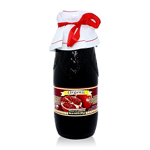 (Pow Organic Pomegranate Molasses 10.2 Oz Glass Bottle)